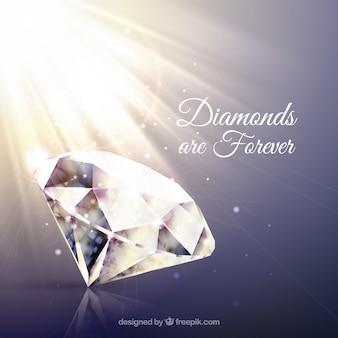 Sfondo di diamanti con il flash
