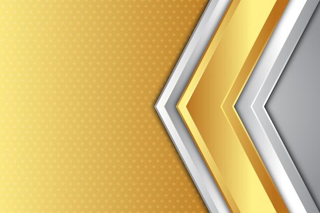 Sfondo di direzione freccia oro e argento