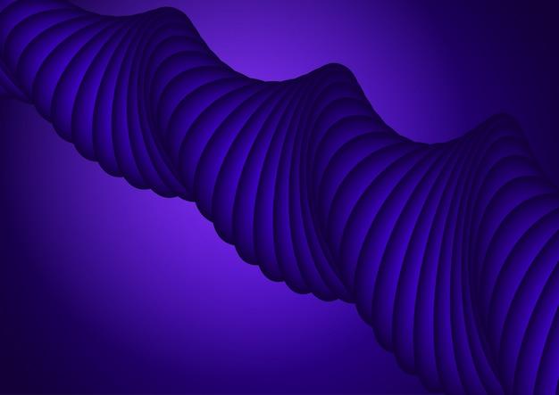 Sfondo di disegno astratto con forma viola 3d