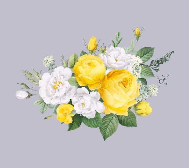 Sfondo di disegno floreale