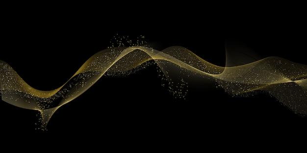 Sfondo di disegno onde dorate fluenti