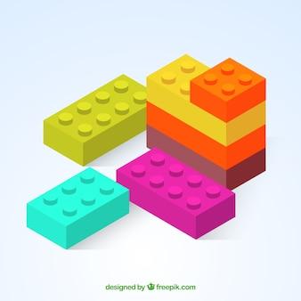Sfondo di diversi pezzi colorati