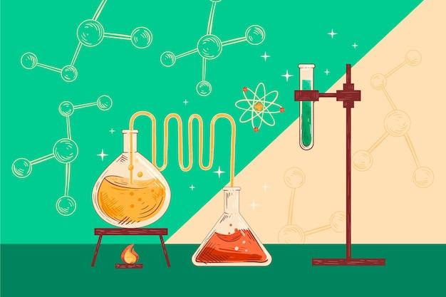 Sfondo di educazione scientifica vintage