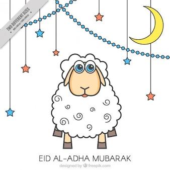 Sfondo di eid al-adha