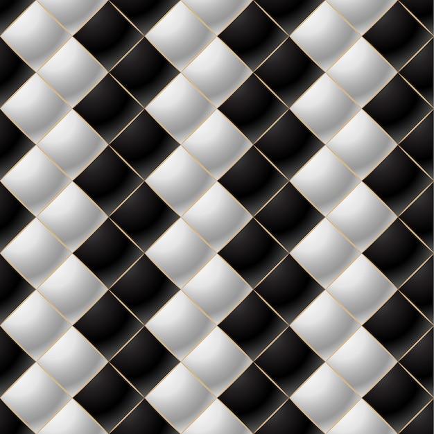 Sfondo di elegant quilted pattern vip in bianco e nero