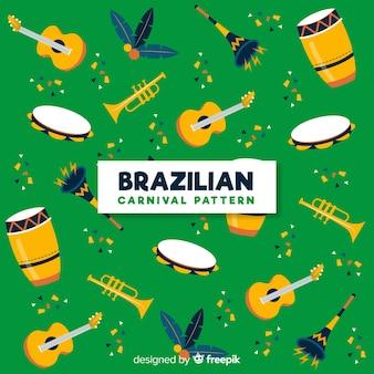 Sfondo di elementi di carnevale brasiliano