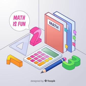 Sfondo di elementi di matematica isometrica