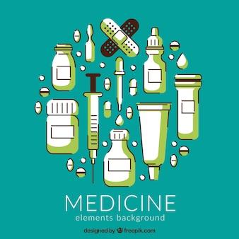 Sfondo di elementi di medicina