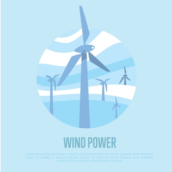 Sfondo di energia eolica