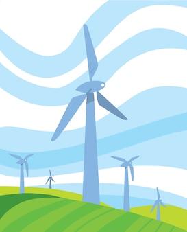 Sfondo di energia pulita
