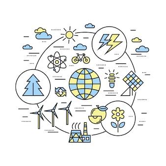 Sfondo di energia rinnovabile