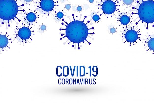Sfondo di epidemia di coronavirus covid-19