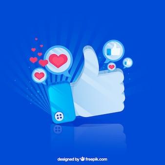 Sfondo di facebook con cuore e icone simili