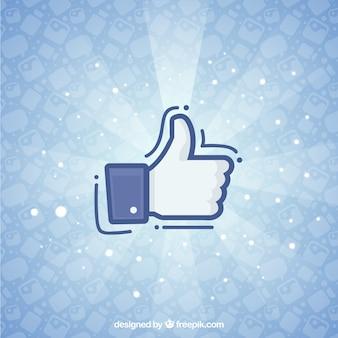 Sfondo di facebook con icona simile