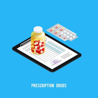 Sfondo di farmacia ricetta pillole