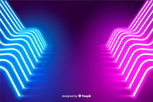 Sfondo di fase luci al neon incandescente