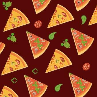 Sfondo di fette di pizza