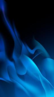 Sfondo di fiamma blu