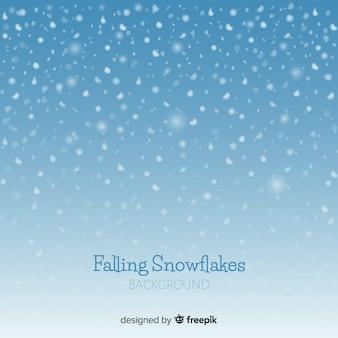 Sfondo di fiocchi di neve che cade