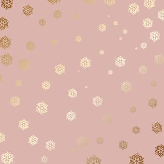Sfondo di fiocco di neve d'oro