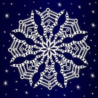 Sfondo di fiocco di neve disegnato a mano