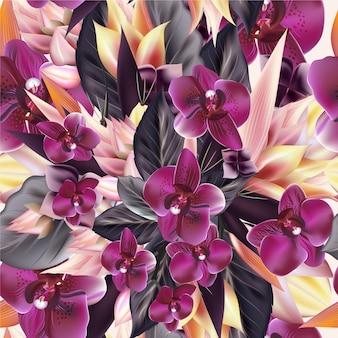 Sfondo di fiori colorati