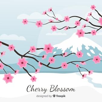 Sfondo di fiori di ciliegio