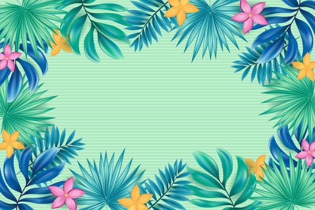 Sfondo di fiori tropicali per lo zoom
