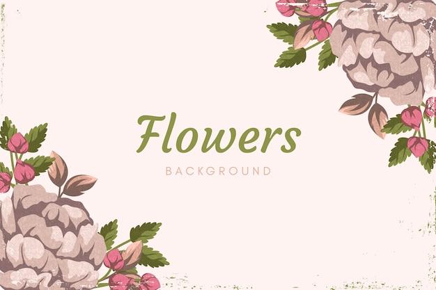 Sfondo di fiori vintage