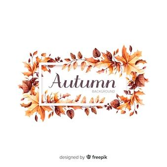Sfondo di foglie autunnali disegnati a mano