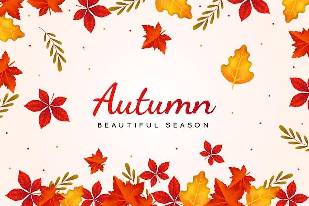 Sfondo di foglie d'autunno realistico