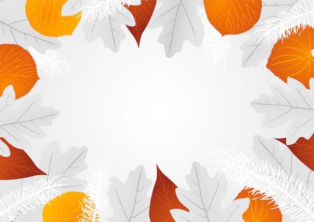 Sfondo di foglie decorative