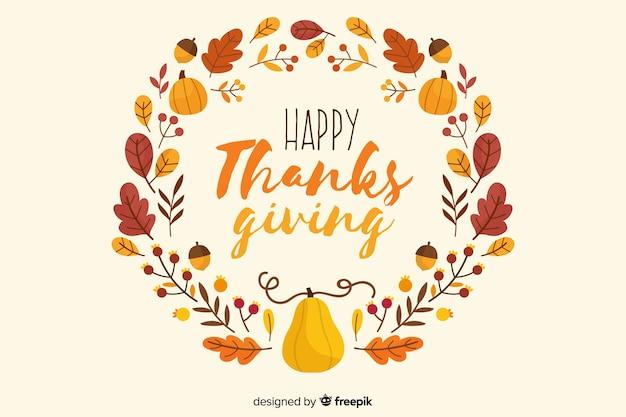 Sfondo di foglie di ringraziamento disegnati a mano