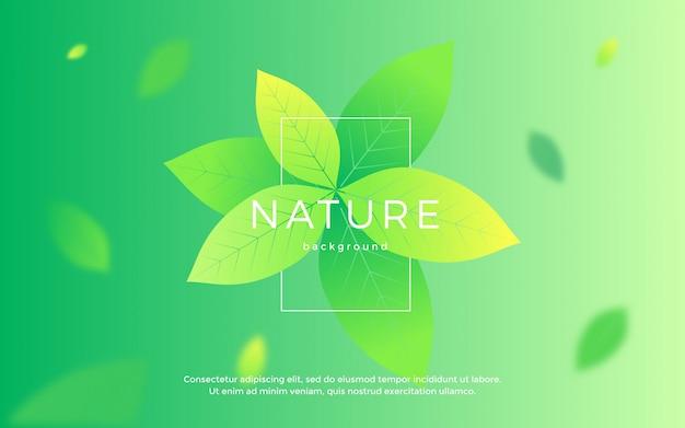 Sfondo di foglie floreali di natura
