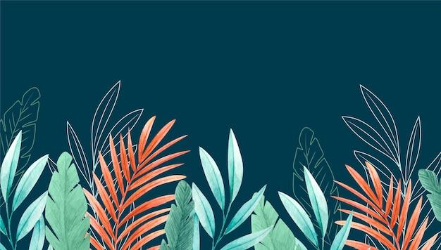 Sfondo di foglie tropicali per lo zoom