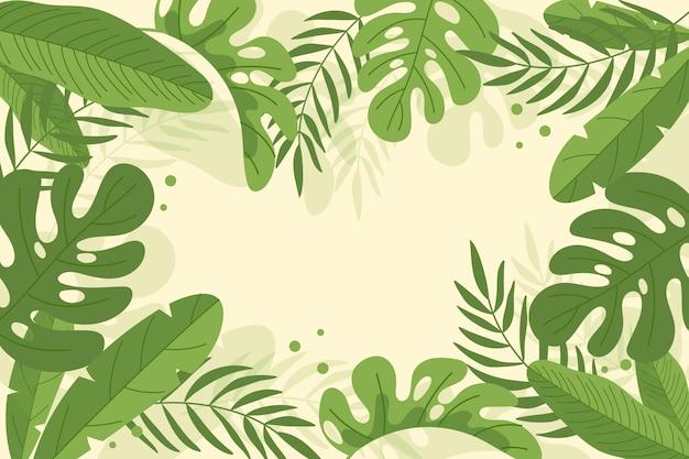 Sfondo di foglie tropicali