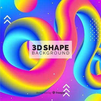 Sfondo di forma 3d