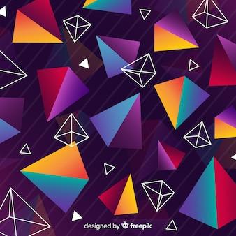 Sfondo di forma geometrica colorata vintage
