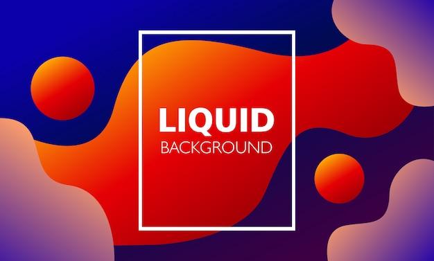 Sfondo di forma liquida