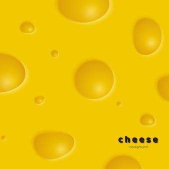 Sfondo di formaggio con fori. illustrazione vettoriale eps 10