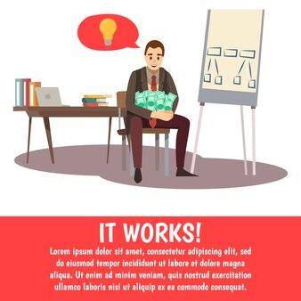 Sfondo di formazione aziendale