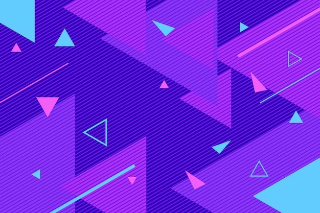 Sfondo di forme astratte colorate triangoli piatti