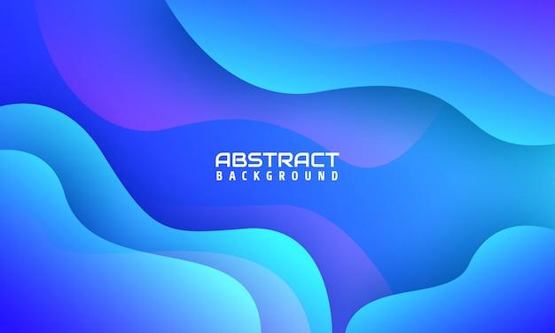Sfondo di forme astratte minimal con colore blu,