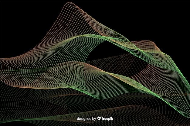 Sfondo di forme astratte particelle incandescente