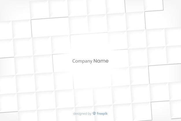 Sfondo di forme bianche quadrate in stile carta