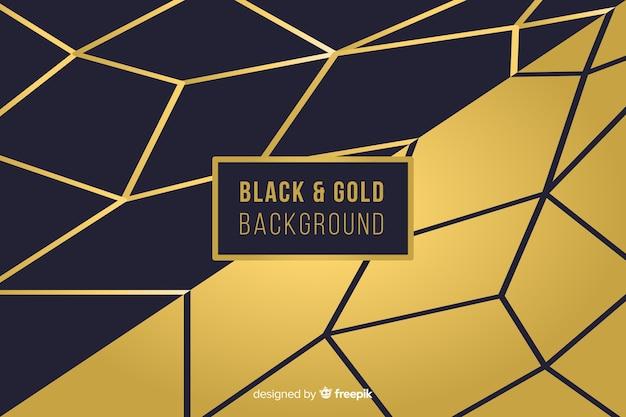 Sfondo di forme d'oro