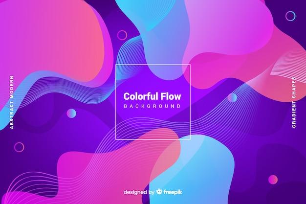 Sfondo di forme di flusso colorato astratto