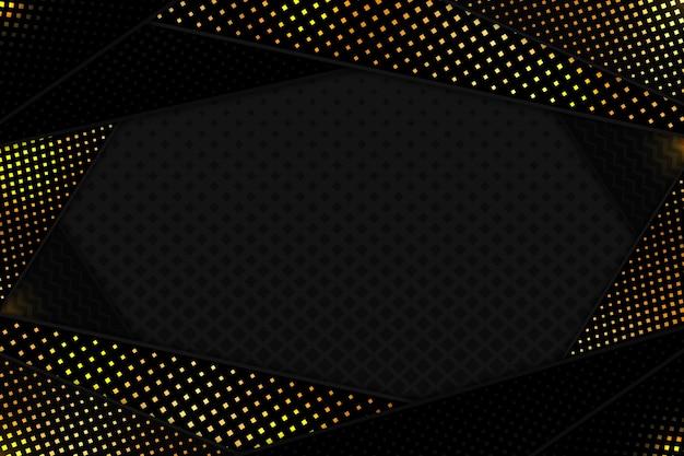 Sfondo di forme di taglio carta nera
