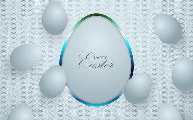 Sfondo di forme di uova d'argento