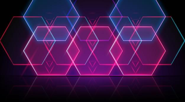 Sfondo di forme geometriche al neon
